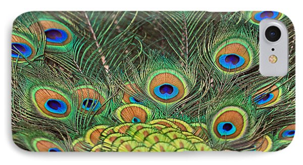 IPhone Case featuring the photograph Peacock  Detail by Larry Nieland