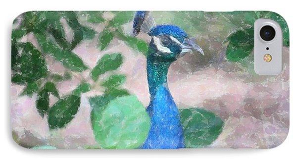 IPhone Case featuring the photograph Peacock by Donna  Smith