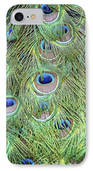 Peacock Feathers Phone Case by Jen Morrison
