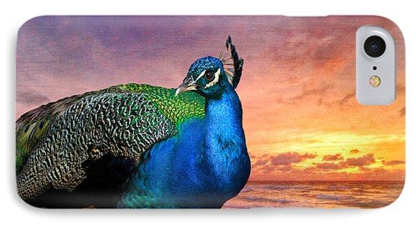 Peacock In Paradise Phone Case by Debra and Dave Vanderlaan