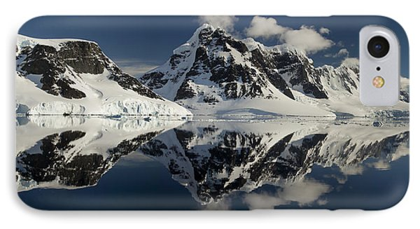 Peaks Along  Neumayer Channel Phone Case by Colin Monteath
