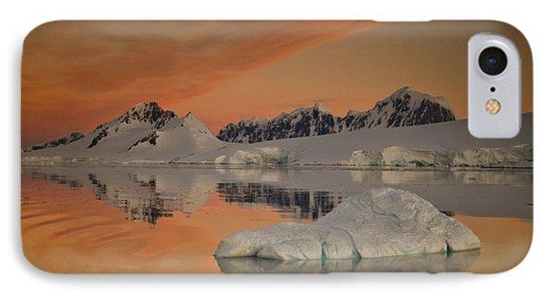 Peaks At Sunset Wiencke Island Phone Case by Colin Monteath