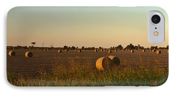 Peanut Field Bales At Dawn 1 Phone Case by Douglas Barnett