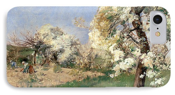 Pear Blossoms Phone Case by Childe Hassam