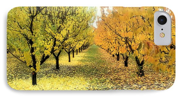 IPhone Case featuring the photograph Pear Orchard In Fall by Katie Wing Vigil