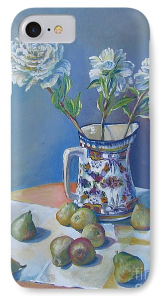 pears and Talavera table pitcher IPhone Case by Vanessa Hadady BFA MA