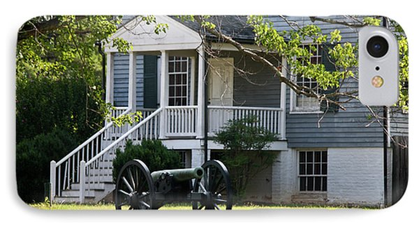 Peers House And Cannon Appomattox Court House Virginia Phone Case by Teresa Mucha