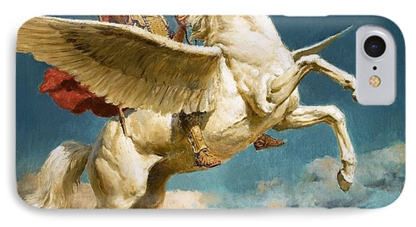 Pegasus The Winged Horse IPhone Case by Fortunino Matania