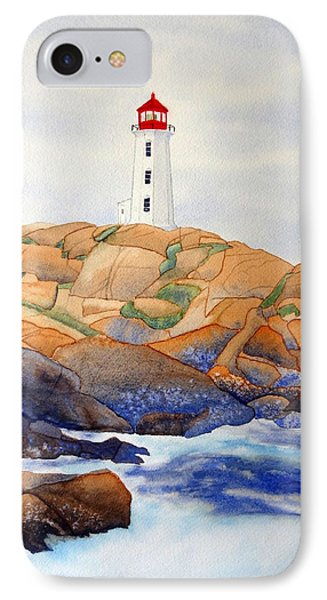 IPhone Case featuring the painting Peggy's Cove by Laurel Best