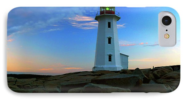 Peggy's Cove Lighthouse At Sunrise IPhone Case by Rick Berk