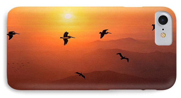 IPhone Case featuring the photograph Pelican Migration by Chris Lord