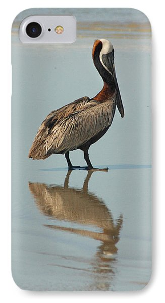 Pelican Reflections IPhone Case by Cindy Haggerty