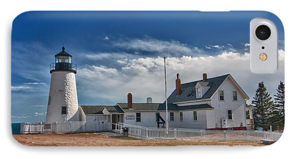 Pemaquid Point Lighthouse 4800 Phone Case by Guy Whiteley