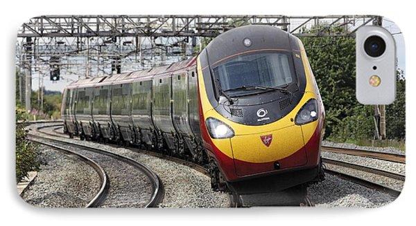 Pendolino Tilting Train IPhone Case by Martin Bond