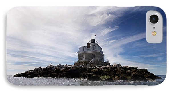 Penfield Reef Lighthouse Phone Case by Stephanie McDowell