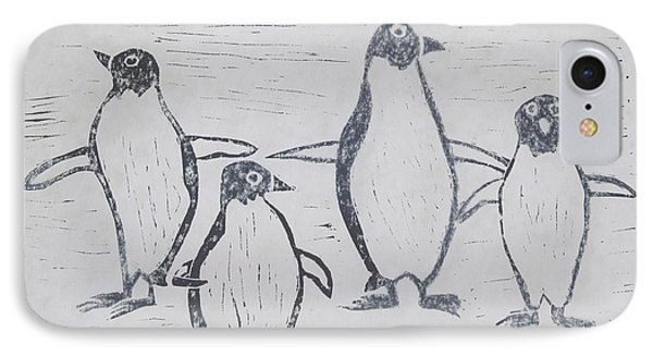 Penguins Phone Case by Tina M Wenger