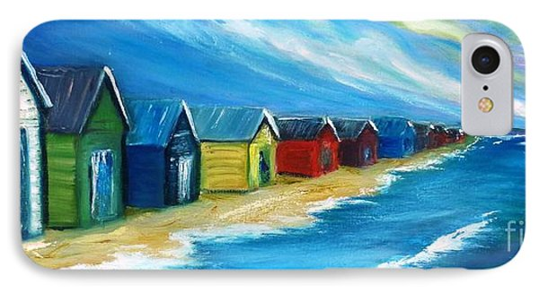IPhone Case featuring the painting Peninsular Boatsheds by Therese Alcorn