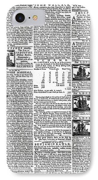 Pennsylvania Gazette, C1749 Phone Case by Granger