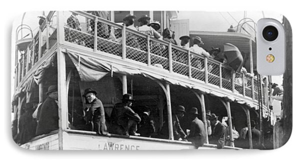 People Fleeing Galveston After Flood - September 1900 Phone Case by International  Images