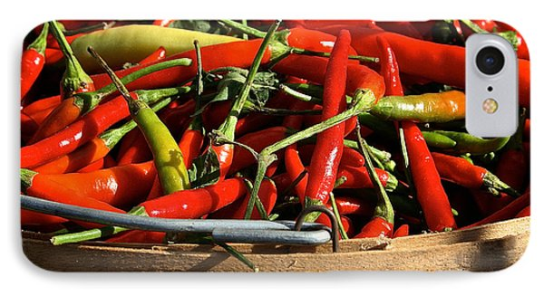 Peppers And More Peppers Phone Case by Susan Herber
