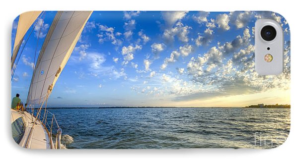 Perfect Evening Sailing On The Charleston Harbor Phone Case by Dustin K Ryan