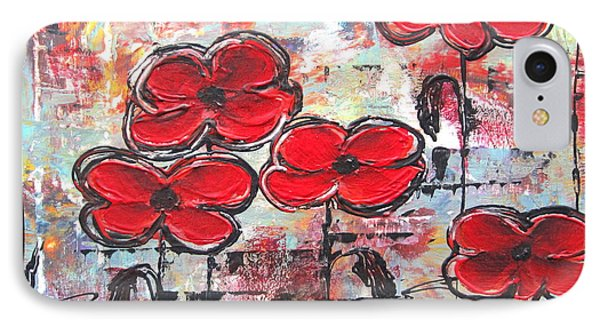 IPhone Case featuring the painting Perfect Poppies by Kathy Sheeran