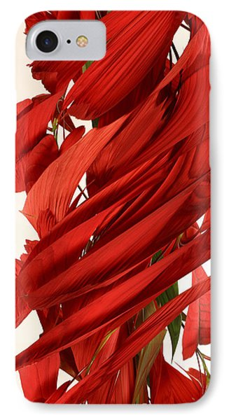 Peripheral Streak Image Of A Poinsettia Phone Case by Ted Kinsman