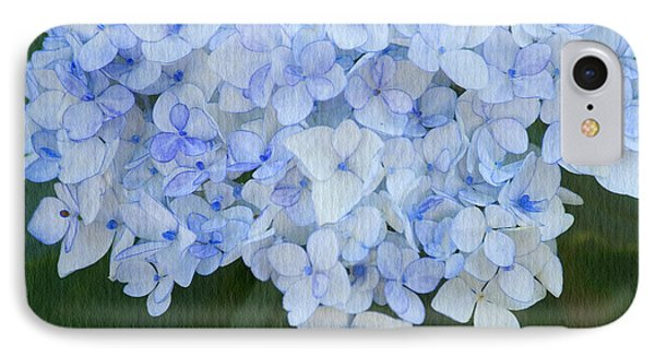 Periwinkle Blue Hydrangea Phone Case by Bonnie Bruno