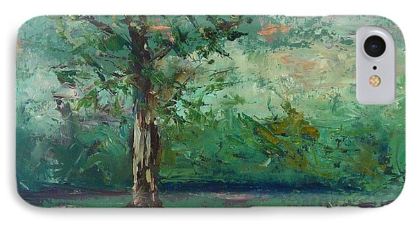 IPhone Case featuring the painting Persimmon In Plein Air by Carol Berning