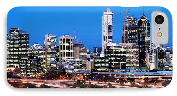 Perth City Night View From Kings Park IPhone Case by Yew Kwang