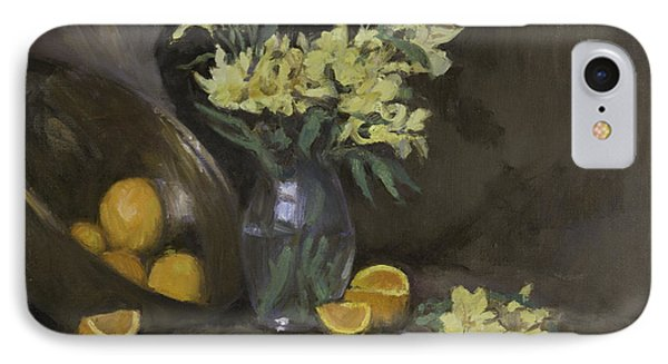 Peruvian Lilies With Oranges Phone Case by Walter Lynn Mosley