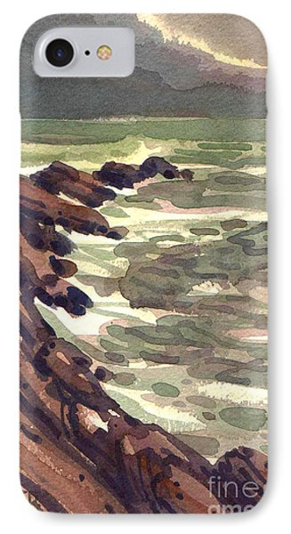 IPhone Case featuring the painting Pescadero Rocks by Donald Maier