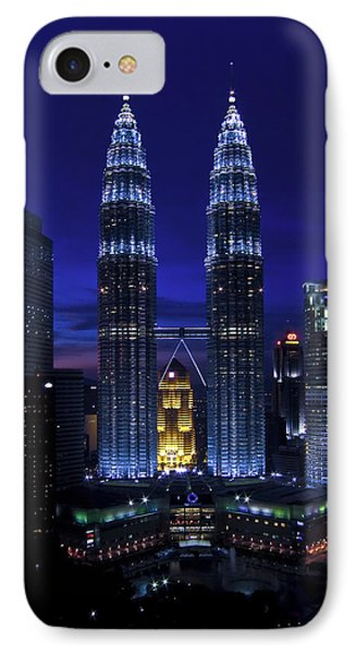 Petronas Towers In Kl Malaysia At Twilight. IPhone Case