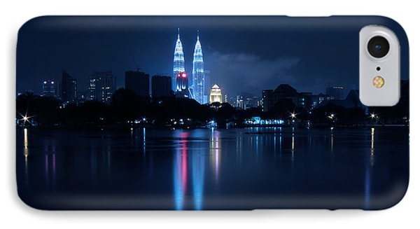 Petronas Towers Taken From Lake Titiwangsa In Kl Malaysia. IPhone Case