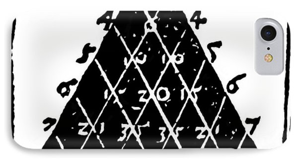 Petrus Apianus's Pascal's Triangle, 1527 Phone Case by Dr Jeremy Burgess