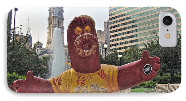 Phanatic Love Statue In The City Phone Case by Alice Gipson