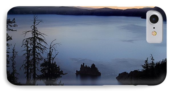 Phantom Ship Sunrise At Crater Lake Phone Case by Pierre Leclerc Photography