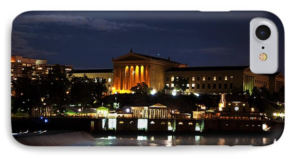 Philadelphia Art Museum And Waterworks All Lit Up Phone Case by Bill Cannon