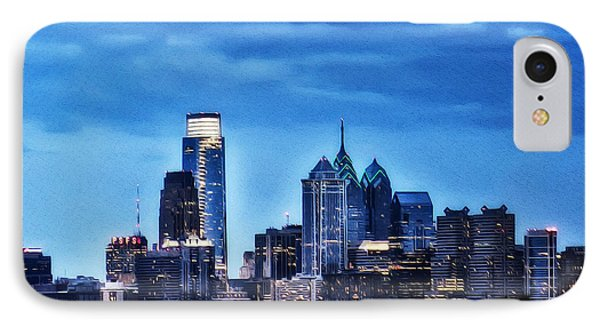 Philadelphia At Night Phone Case by Bill Cannon