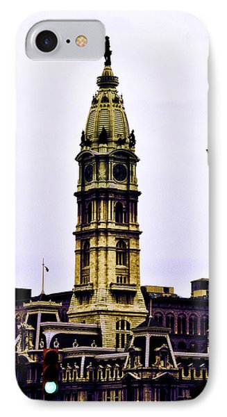 Philadelphia City Hall Tower Phone Case by Bill Cannon