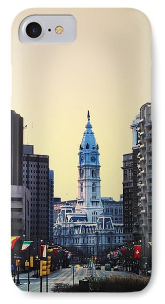 Philadelphia Cityhall At Dawn Phone Case by Bill Cannon