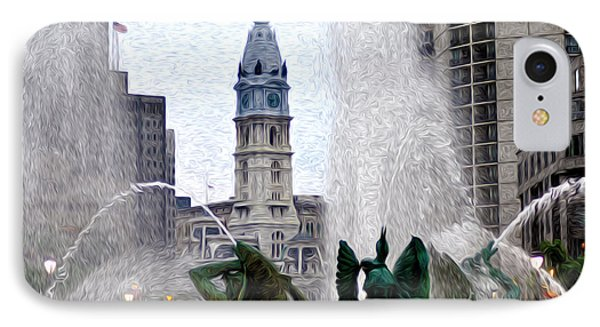 Philadelphia Fountain Phone Case by Bill Cannon