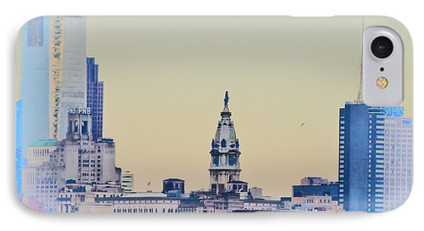 Philadelphia From South Camden Phone Case by Bill Cannon