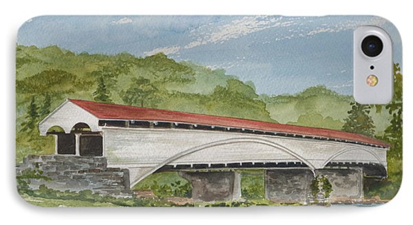 Philippi Covered Bridge  IPhone Case by Nancy Patterson