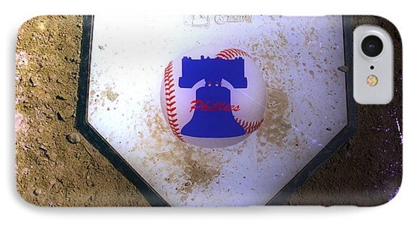 Phillies Home Plate Phone Case by Bill Cannon