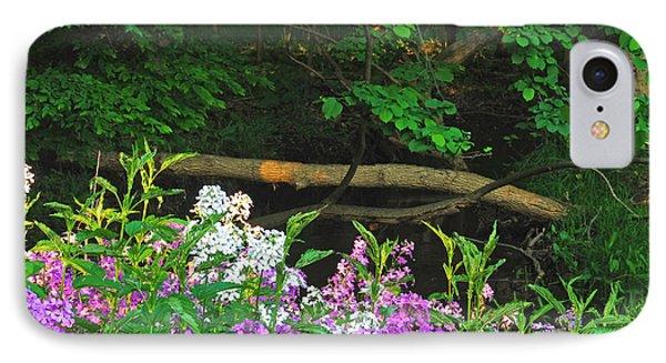 Phlox Along The Creek 7185 Phone Case by Michael Peychich