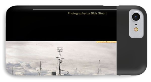 IPhone Case featuring the mixed media Photobook On Hmas Castlemaine by Blair Stuart