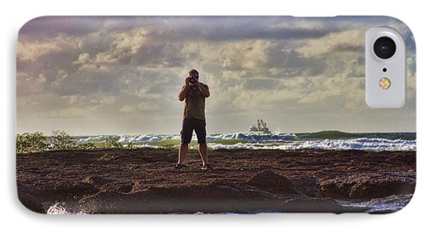 Photographing Seaside Life Phone Case by Douglas Barnard