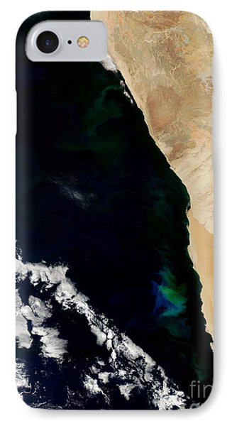 Phytoplankton Bloom Off Nambia Phone Case by Nasa