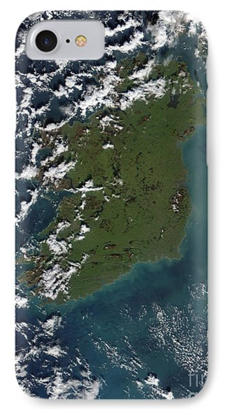 Phytoplankton Bloom Off The Coast Phone Case by Stocktrek Images
